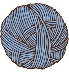 Blue hank of yarn vector