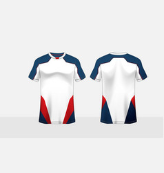 Blue red and white pattern layout e-sport t-shirt vector