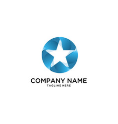 Blue star logo vector