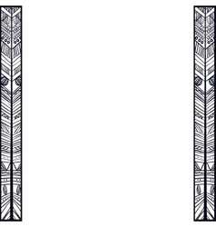 Boho style black and white design vector