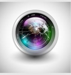 Broken camera icon vector