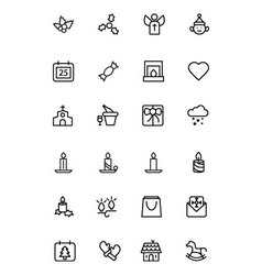 Christmas Line Icons 3 vector