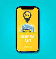 creative of taxi online vector image