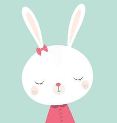 cute bunny rabbit vector image