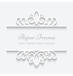 Cutout paper frame vector