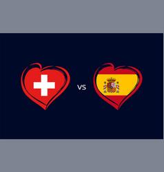 czech republic vs denmark flag emblem vector image