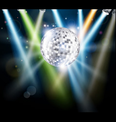 Disco mirror ball background vector