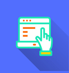 e-learning distance education - icon for vector image