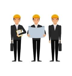 engineers men cartoon icon vector image