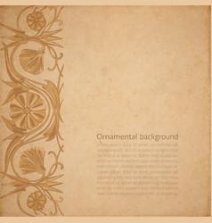 flower parchment background vector image