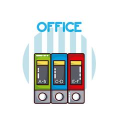 Folders office element vector