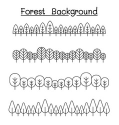 forest landscape in panorama view graphic design vector image