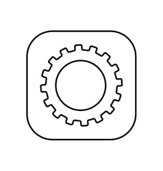 gear setup button isolated icon design vector image
