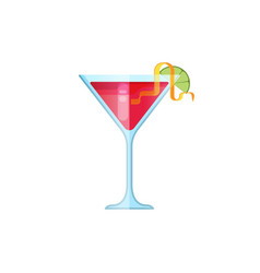glass cosmopolitan cocktail vector image