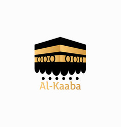Hajj mabrour arabic kaaba vector