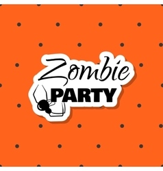 Halloween sticker zombie party vector