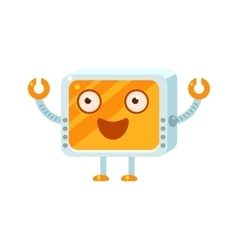 Happy Little Robot Character vector image