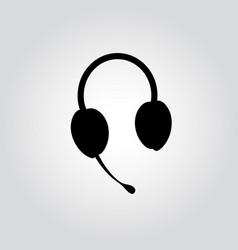 headphones with a microphone vector image