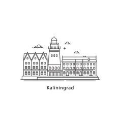 kaliningrad logo isolated on white background vector image