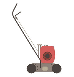 lawn mower icon garden grass silhouette mowing vector image