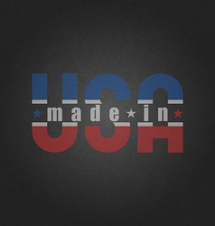 made in usa worn poster on old grey vector image