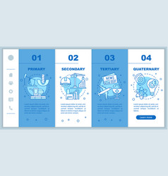 Manufacturing process onboarding mobile web pages vector
