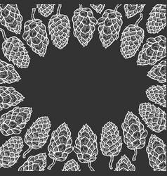 monochrome background of hop vector image