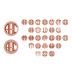 Monogram circle letters vector