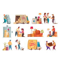 moving new house set vector image