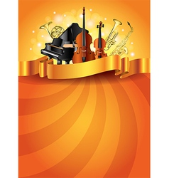 musical instruments vertical background vector image