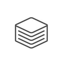 Napkins line icon vector