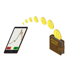 Online purchase bitcoins vector
