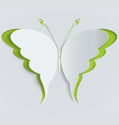 paper butterfly decoration greeting card vector image