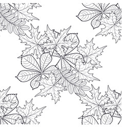 pattern seamless with autumn leaves vector image