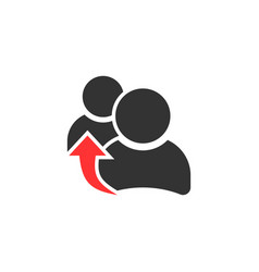 people referral icon in flat style business vector image