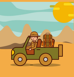 People safari travel vector