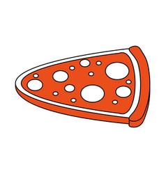 Pizza flat vector