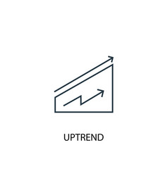 printuptrend concept line icon simple element vector image