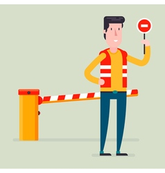 Road Barrier Man vector image
