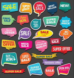 sale stickers and tags colorful collection vector image