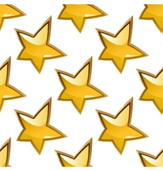 Seamless background pattern of glossy gold stars vector image