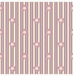 seamless floral pattern with vertical stripes vector image