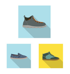 Shoe and footwear icon vector