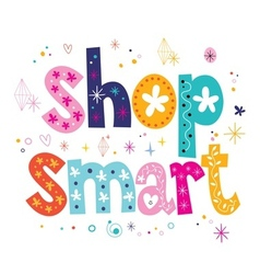 shop smart vector image