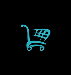 Shopping cart market logo vector