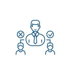 Social hierarchy line icon concept social vector