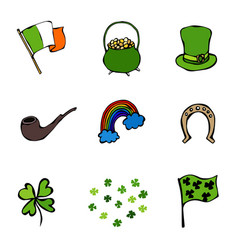 St patrick s day icons collection vector
