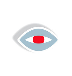 stylish icon in paper sticker style eye problems vector image