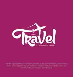 travel logo designs vector image