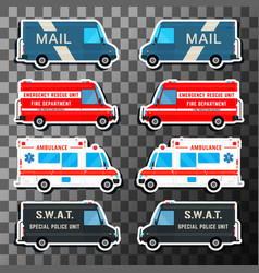 various city urban traffic vehicles vector image